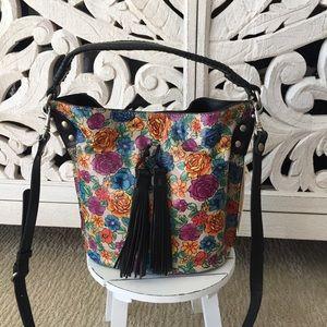 Patricia Nash Leather Bucket Bag